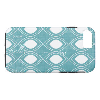 Calligraphy Teal Any Color Personalized iPhone iPhone 7 Case