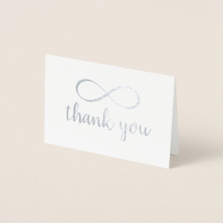 Calligraphy Thank You Infinity Symbol Foil Card