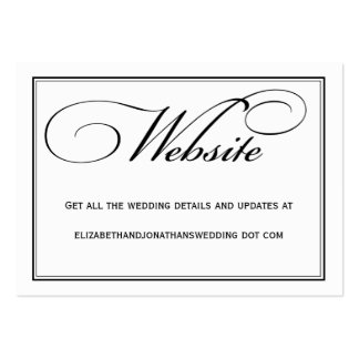 Calligraphy Wedding Website Information Card Pack Of Chubby Business Cards