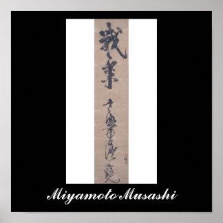 Calligraphy written by Miyamoto Musashi c 1600 s Posters