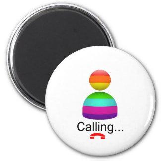 calling 6 cm round magnet