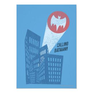 Calling Batman Bat Symbol Graphic Invitation