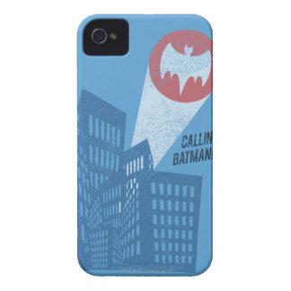 Calling Batman Bat Symbol Graphic iPhone 4 Case-Mate Case