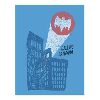 Calling Batman Bat Symbol Graphic Post Card