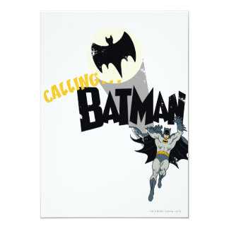 Calling Batman Graphic 13 Cm X 18 Cm Invitation Card