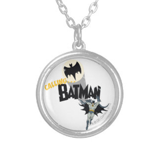 Calling Batman Graphic Silver Plated Necklace