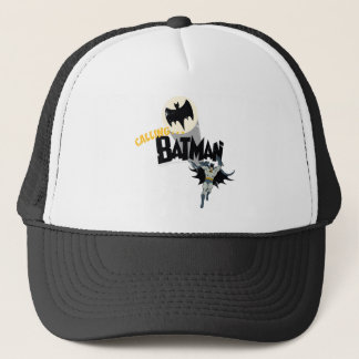 Calling Batman Graphic Trucker Hat