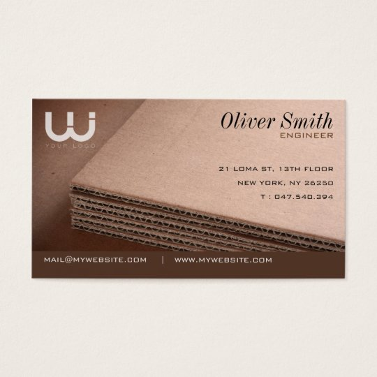 Calling card corrugated cardboard for cartonnist