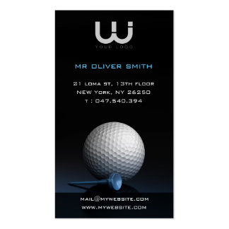 Calling card professional, black bottom golf pack of standard business cards