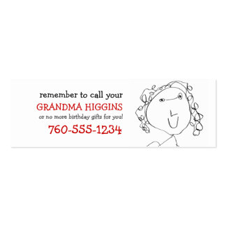 Calling Cards for Grandma Business Card