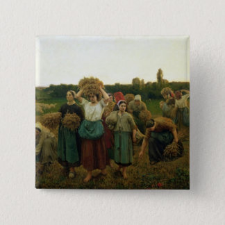 Calling in the Gleaners, 1859 15 Cm Square Badge