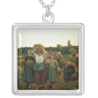 Calling in the Gleaners, 1859 Silver Plated Necklace