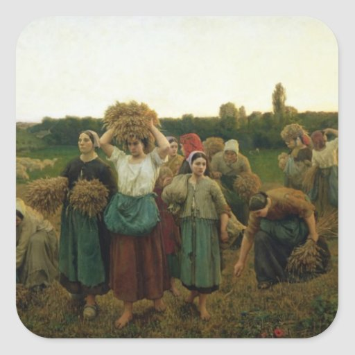 Calling in the Gleaners, 1859 Sticker