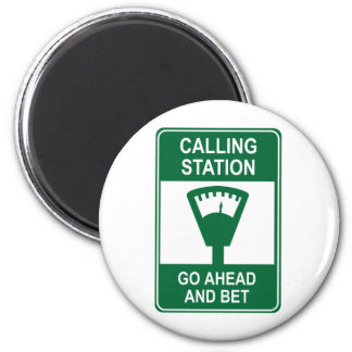 Calling Station 6 Cm Round Magnet