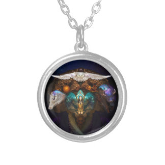 Calling The Spirit Animals Silver Plated Necklace