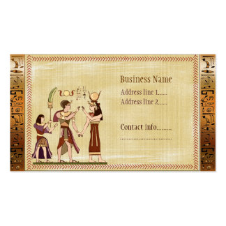 Calling to the Gods Egyptian Template Pack Of Standard Business Cards