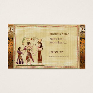 Calling to the Gods Egyptian Template Business Card