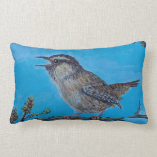 Calling Wren artwork by Joanne Casey Pillow