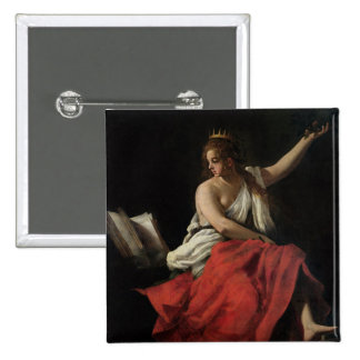 Calliope, Muse of Epic Poetry 15 Cm Square Badge