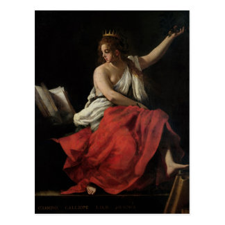 Calliope, Muse of Epic Poetry Postcard