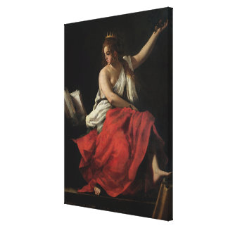 Calliope, Muse of Epic Poetry Stretched Canvas Print