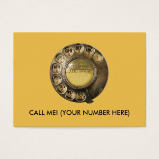 CALLME! Old British Telephone Dial Design Business Card