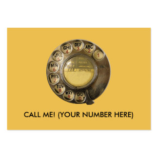 CALLME! Old British Telephone Dial Design Pack Of Chubby Business Cards