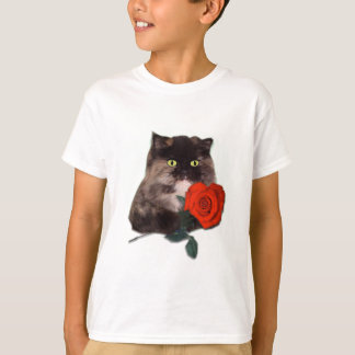 Cally with Red Heart Shaped Rose Persian T-Shirt