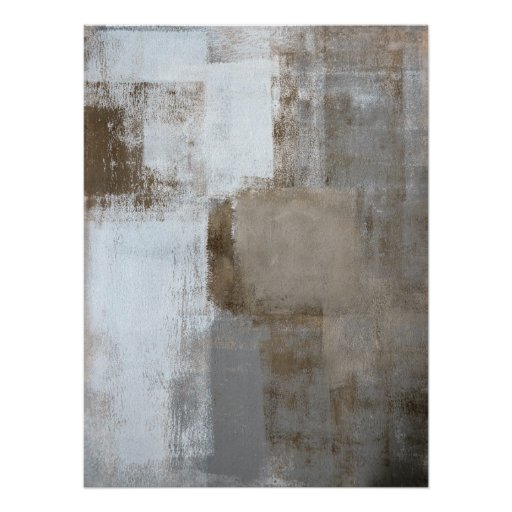 'Calm and Neutral' Grey and Beige Abstract Art