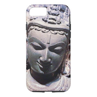 Calm, Asian Stone Face Statue Head Close-up Photo iPhone 8/7 Case