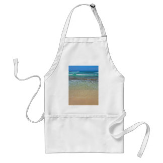 Calm beach waters standard apron