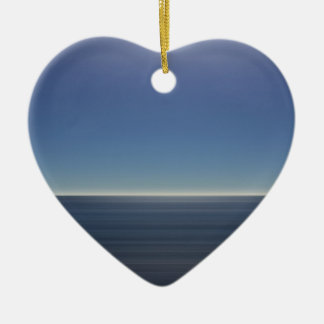 Calm Blue Ocean Ceramic Heart Decoration