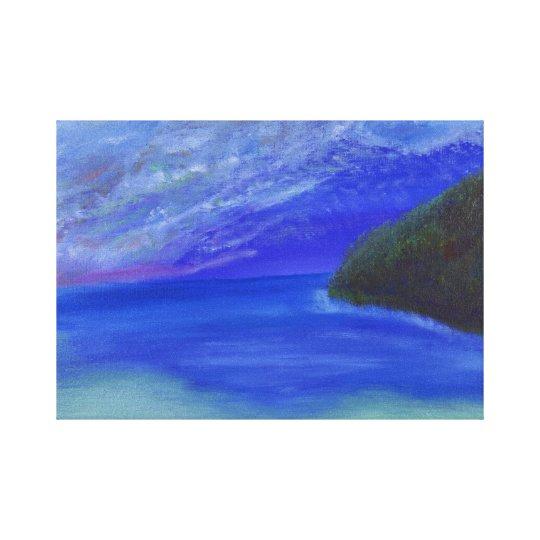 Calm by the sea canvas print