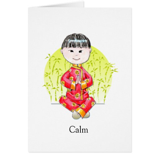 Calm China Boy note card II