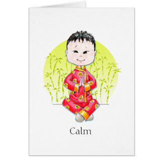 Calm China Boy note cards