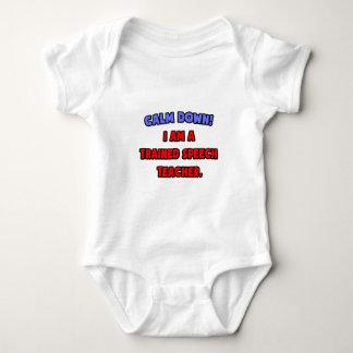 Calm Down .. I am a Trained Speech Teacher Baby Bodysuit