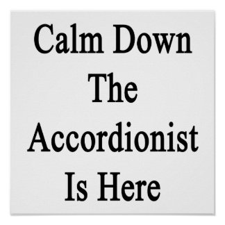 Calm Down The Accordionist Is Here Poster