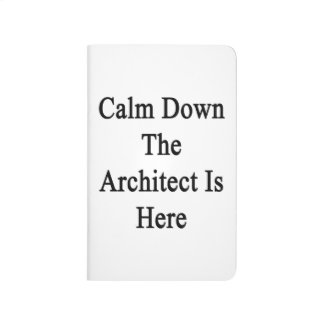 Calm Down The Architect Is Here Journal