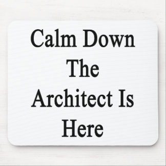 Calm Down The Architect Is Here Mousepads