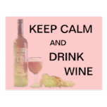 Calm Drink Wine Graphic Postcard