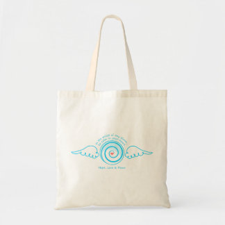 Calm Heart in a Storm Budget Tote Bag