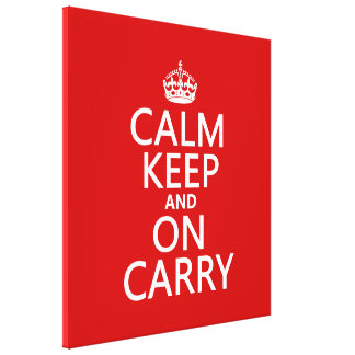 Calm Keep and On Carry - all colours Canvas Print