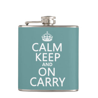 Calm Keep and On Carry - all colours Hip Flask