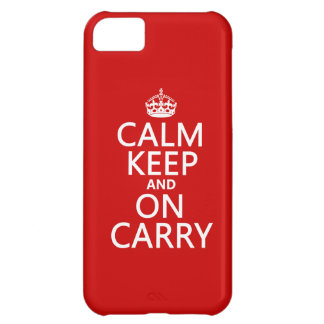 Calm Keep and On Carry - all colours iPhone 5C Case