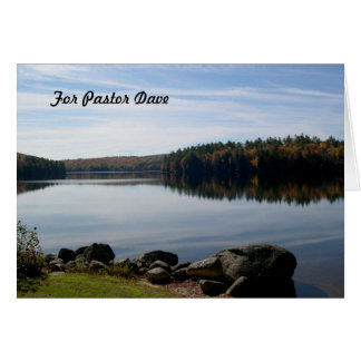 Calm Lake Photography Pastor Appreciation Greeting Card
