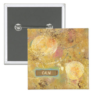 Calm natural beauty abstract art unique painting 15 cm square badge