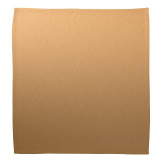 Calm One Color Gradient Golden Brown Bandana