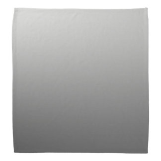 Calm One Color Gradient Grey Bandana
