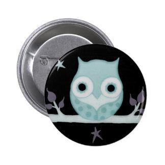 Calm Owl 6 Cm Round Badge