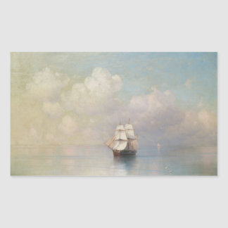 Calm Seas Ivan Aivazovsky seascape waterscape sea Rectangular Sticker